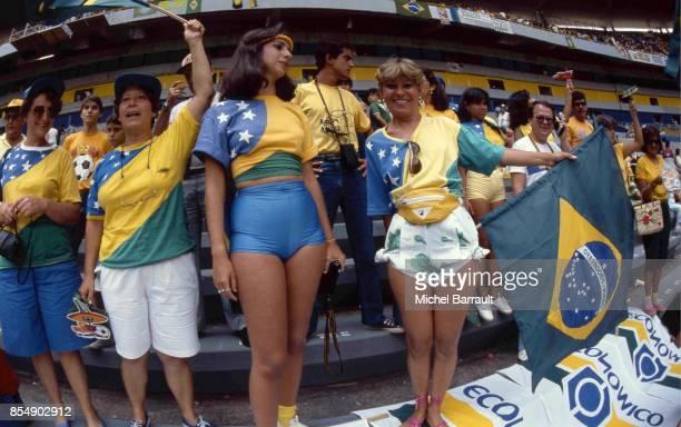 Supporters de l'equipe du Bresil France / Bresil Quart de Finale de la Coupe du Monde 1986
