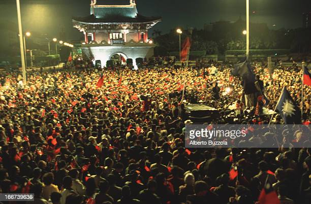supporters demonstrate after electoral defeat in the second democratically held presidential elections