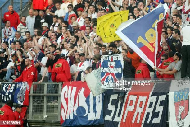 Supporters du PSG Amiens / PSG 1/2 finale de la Coupe de France