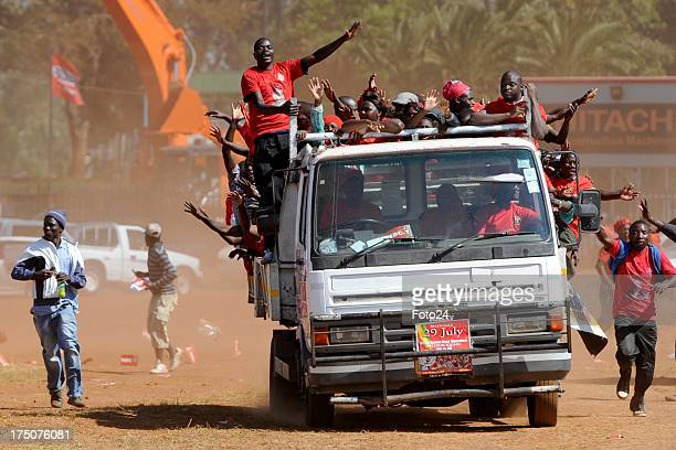 MDC supporters during a rally on July 29 2013 in Harare Zimbabwe Zimbabwean Prime Minister Morgan Tsvangirai held his final campaign rally yesterday...