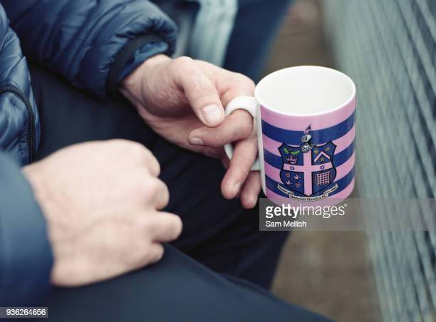 Supporters during the Dulwich Hamlet FC vs Worthing FC at Imperial Fields KNK Stadium on 18th March 2018 in South London in the United Kingdom Fellow...