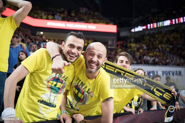 Supporters during the Turkish Airlines EuroLeague Final Four Semifinal A game between Fenerbahce Istanbul v Real Madrid at Sinan Erdem Dome on May 19...