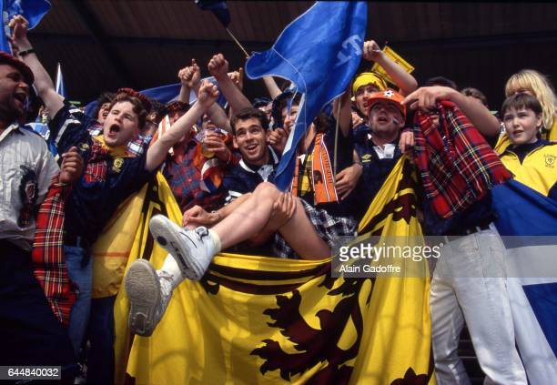 Supporters Ecosse / Pays Bas Pays Bas / Ecosse Euro 1992 Photo Alain Gadoffre / Icon Sport