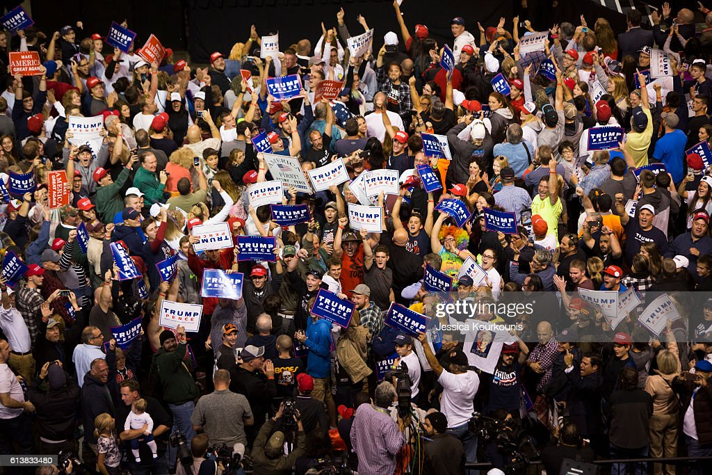 Donald Trump Holds Rally In Wilkes-Barre, PA : News Photo