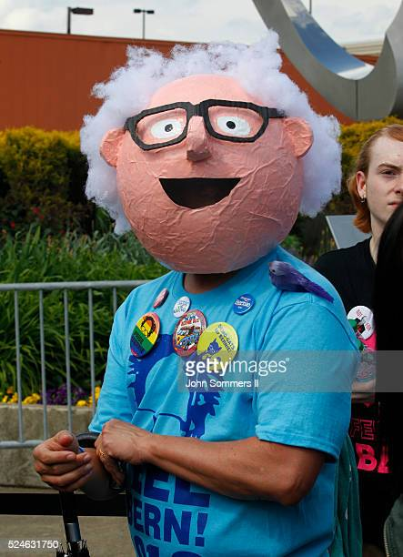 Supporter's for Democratic presidential candidate U.S. Sen. Bernie Sanders wait outside the Big Sandy Superstore Arena for a campaign rally, April...