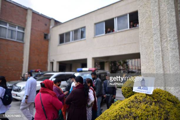 Supporters gathered around hospital premises during second time Kidney transplant of Prime Minister KP Sharma Oli at Tribhuwan University Teaching...
