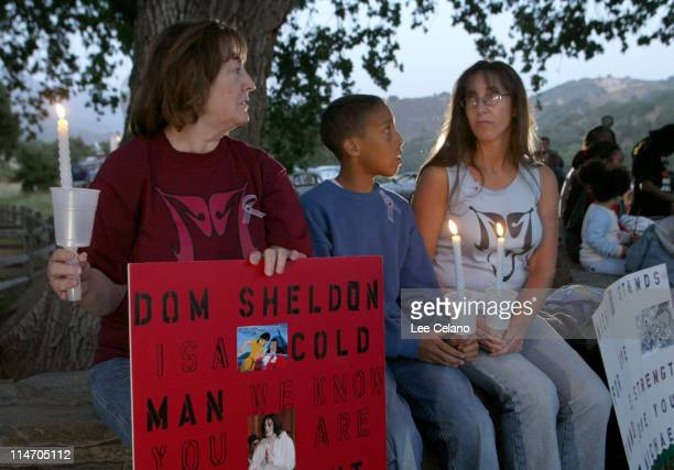 Supporters gathered outside Michael Jackson's Neverland Ranch Thursday April 29 2004 to show support for the entertainer before his upcoming...