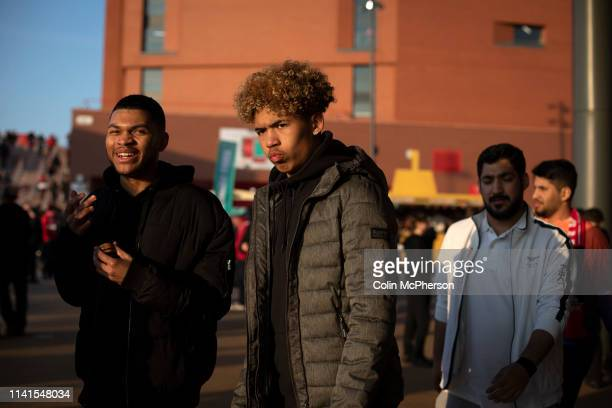 Supporters gathering at Anfield Stadium prior to Liverpool's Champions League quarterfinal first leg tie against Porto The English team beat their...