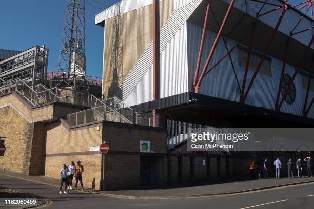 Supporters gathering on Midland Road before Bradford City played Carlisle United in a Skybet League 2 fixture at Valley Parade The home team were...