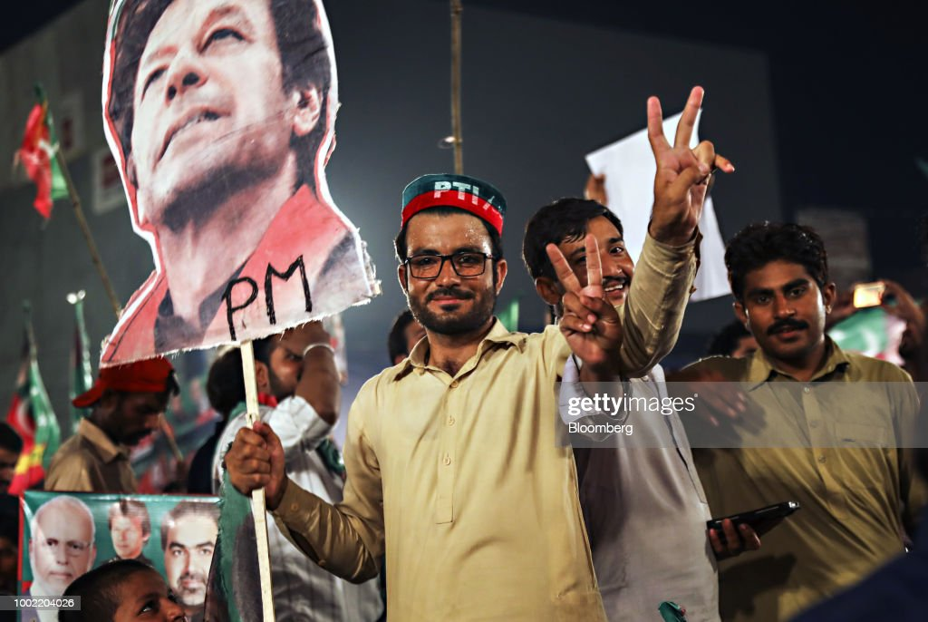 Pakistan's Opposition Leader Imran Khan Holds Campaign Rally Ahead of Elections