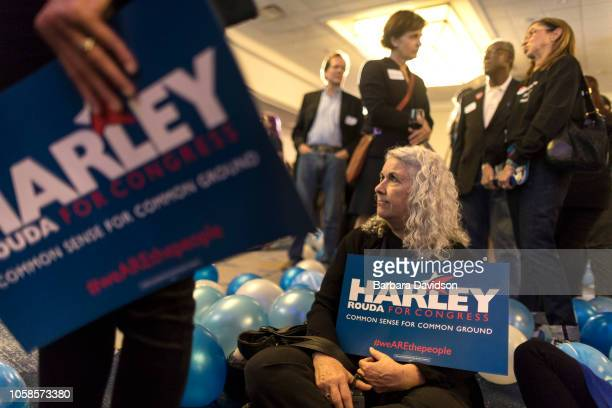 Supporters had a long night waiting on election results at an election day party November 6 2018 in Newport Beach California at the Newport Beach...