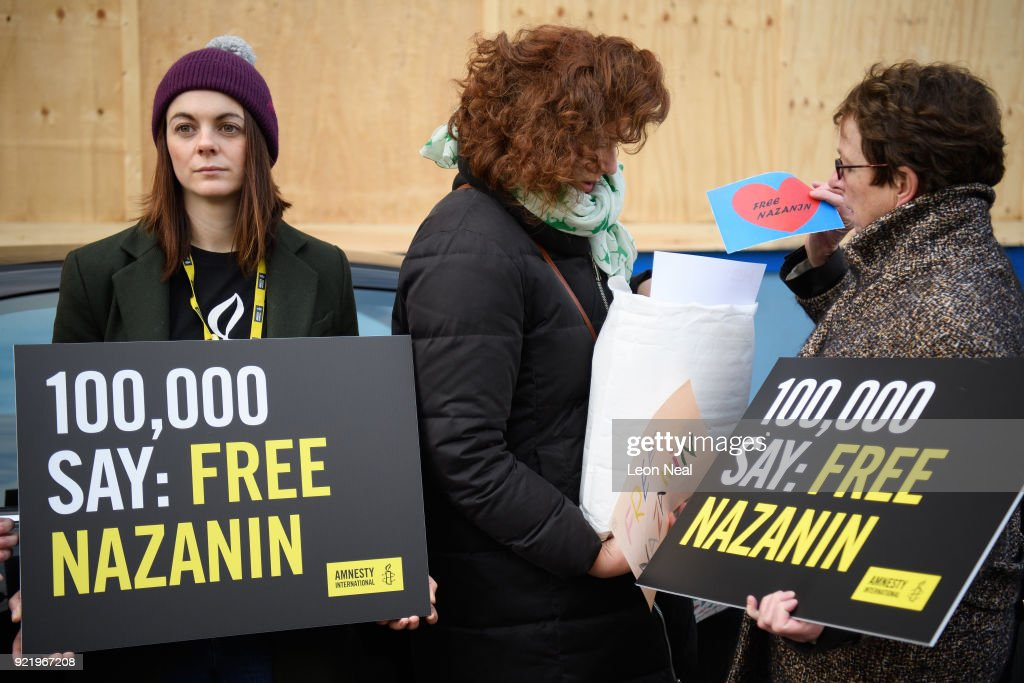 Protest For British Woman Detained In Iran : News Photo