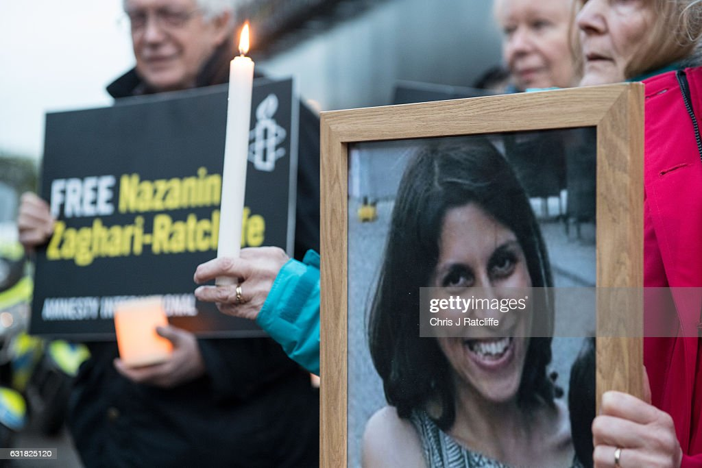 A Vigil Is Held For British-Iranian Mother Imprisoned In Tehran : News Photo