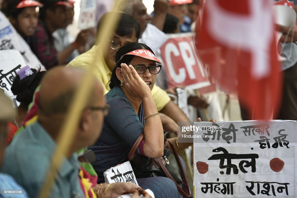 CPIM Protest Against Inflation