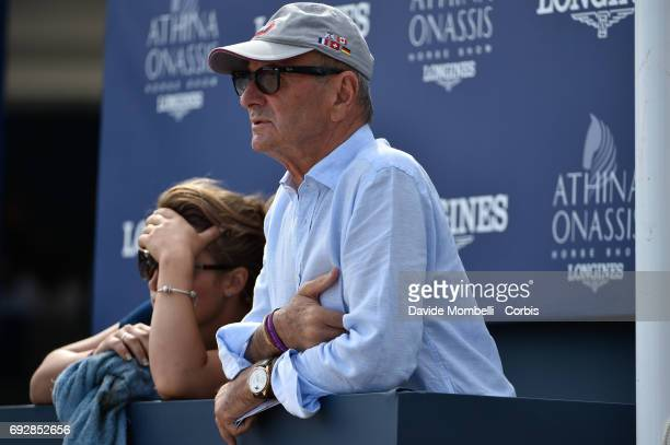 Supporters in the Kiss and Cry look on for Abdelkebir Ouaddar of Morocco riding Saphir du Talus during the Longines Grand Prix Athina Onassis Horse...