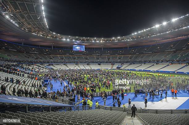 supporters in the Stade de France during the International friendly match between France and Germany on November 13 2015 at the Stade France in Paris...