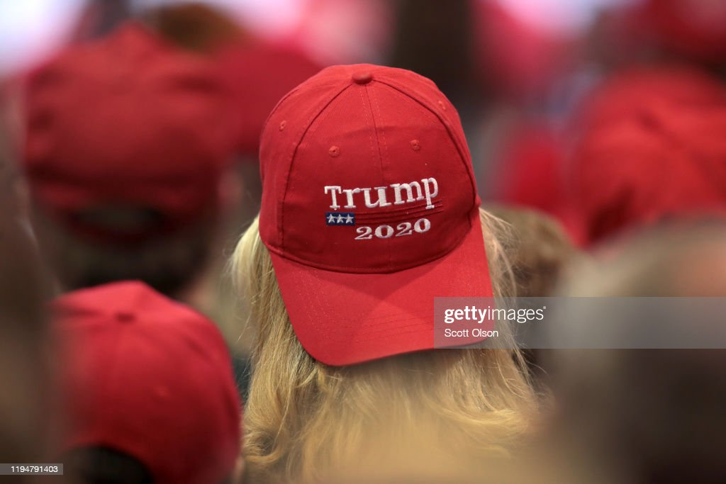 """President Trump Holds """"Merry Christmas"""" Campaign Rally In Michigan : Nieuwsfoto's"""