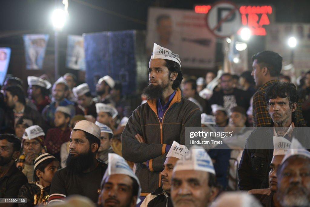IND: Delhi Chief Minister Arvind Kejriwal Address Rally At Jama Masjid