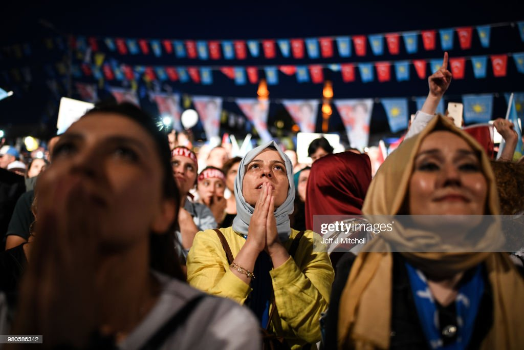 Turkish Presidential Candidate Meral Aksener Campaigns Ahead Of Elections : News Photo