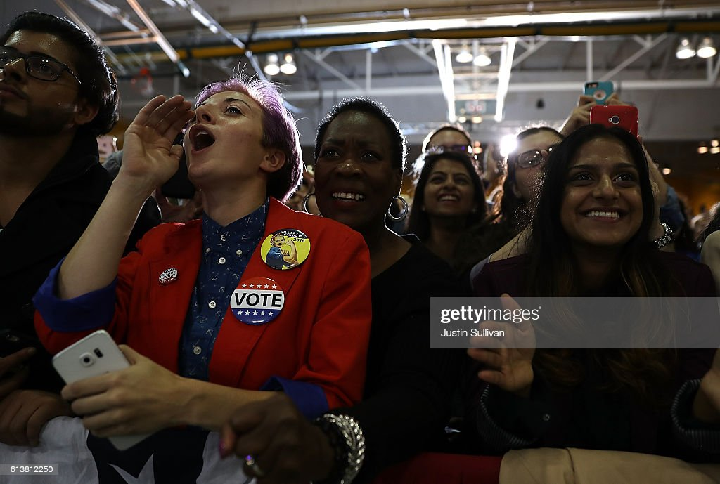 Hillary Clinton Campaigns At Voter Registration Event In Detroit : News Photo