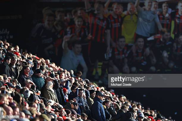 Supporters look on during the Premier League match between AFC Bournemouth and Liverpool at the Vitality Stadium on December 4 2016 in Bournemouth...