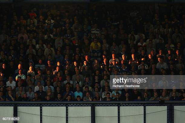 Supporters look on during the Premier League match between Everton and Middlesbrough at Goodison Park on September 17 2016 in Liverpool England