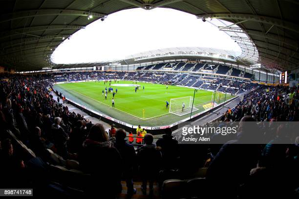 Supporters look on during the Sky Bet Championship match between Hull City and Derby County at KCOM Stadium on December 26 2017 in Hull England