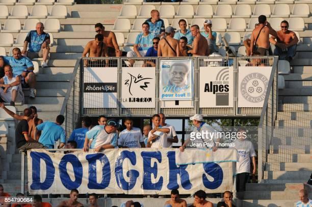 Supporters Marseille Hommage a Pape DIOUF Grenoble / Marseille 1ere journee de Ligue 1 Stade des Alpes Grenoble