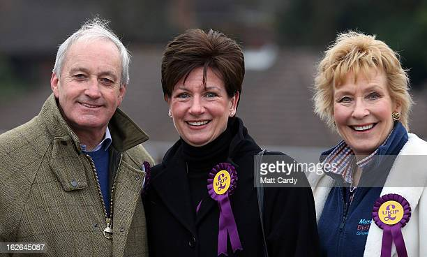UKIP supporters Neil and Christine Hamilton join local candidate Diane James as they help campaign for UKIP in the forthcoming byelection on February...