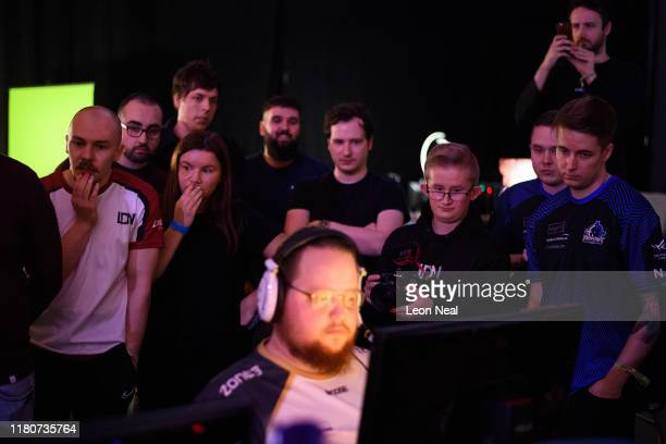 Supporters nervously look on as a team takes part in a match at the epicLAN esport tournament at the Kettering Conference Centre on October 12 2019...