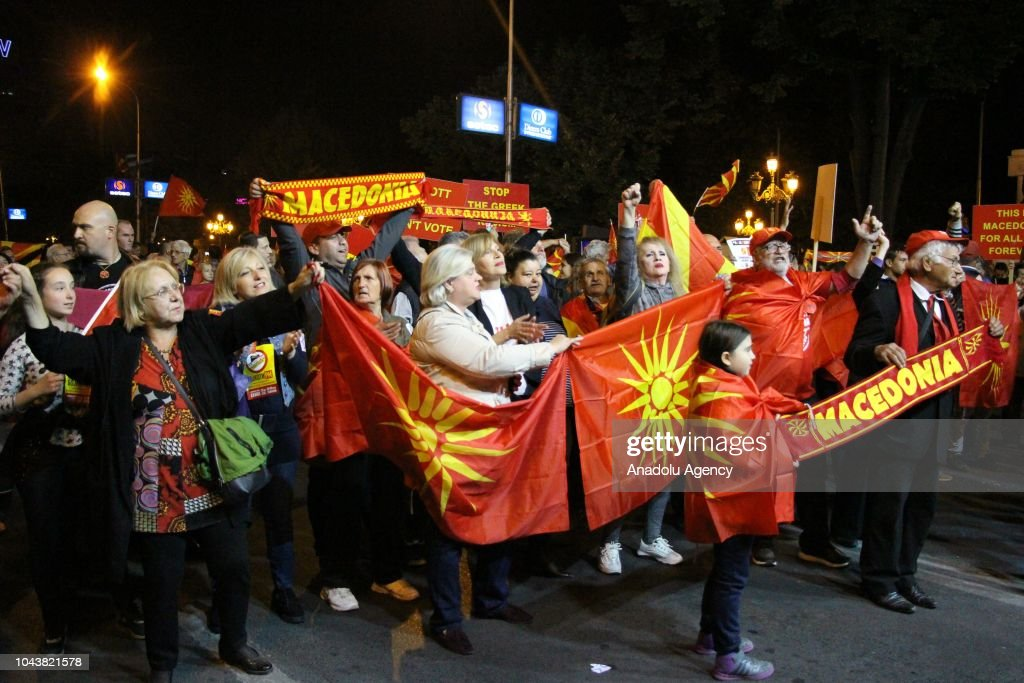 Macedonians vote on landmark name deal with Greece : News Photo