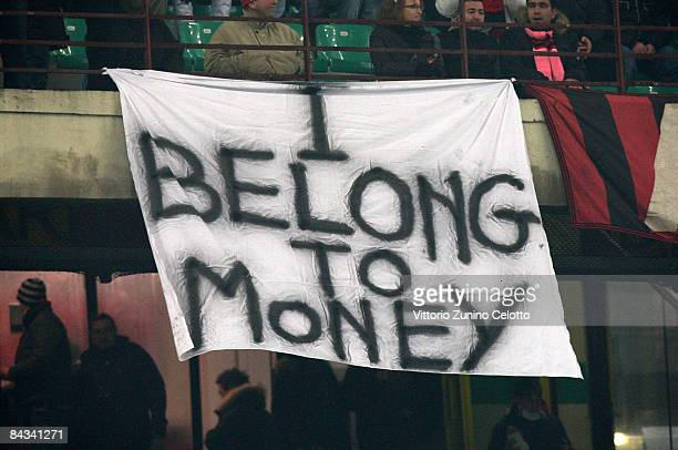 Supporters of AC Milan's Brazilian midfielder Kaka display a banner during the AC Milan's Italian Serie A match against Fiorentina on January 17 2009...