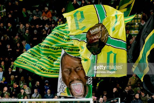 Supporters of ADO Den Haag during the Dutch Eredivisie match between ADO Den Haag v PSV at the Cars Jeans Stadium on February 15, 2020 in Den Haag...
