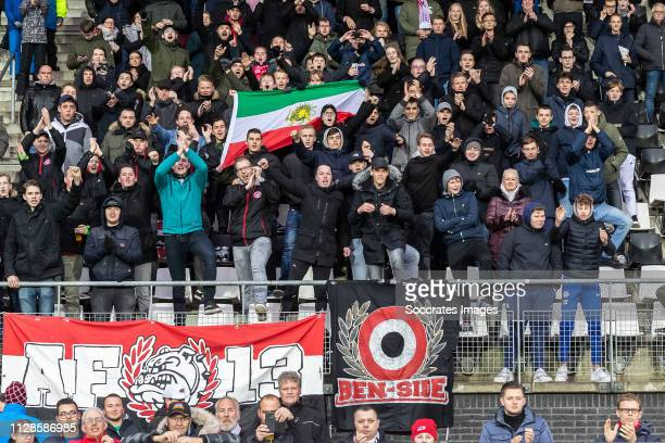 supporters of Alireza Jahanbakhsh during the Dutch Eredivisie match between AZ Alkmaar v Fortuna Sittard at the AFAS Stadium on March 3 2019 in...