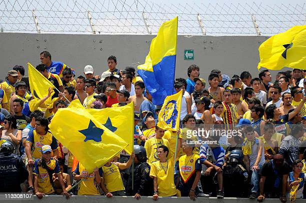 Supporters of America before their match against Pumas as part of the Clausura 2011 at Olympic Stadium on May 1 2011 in Mexico City Mexico