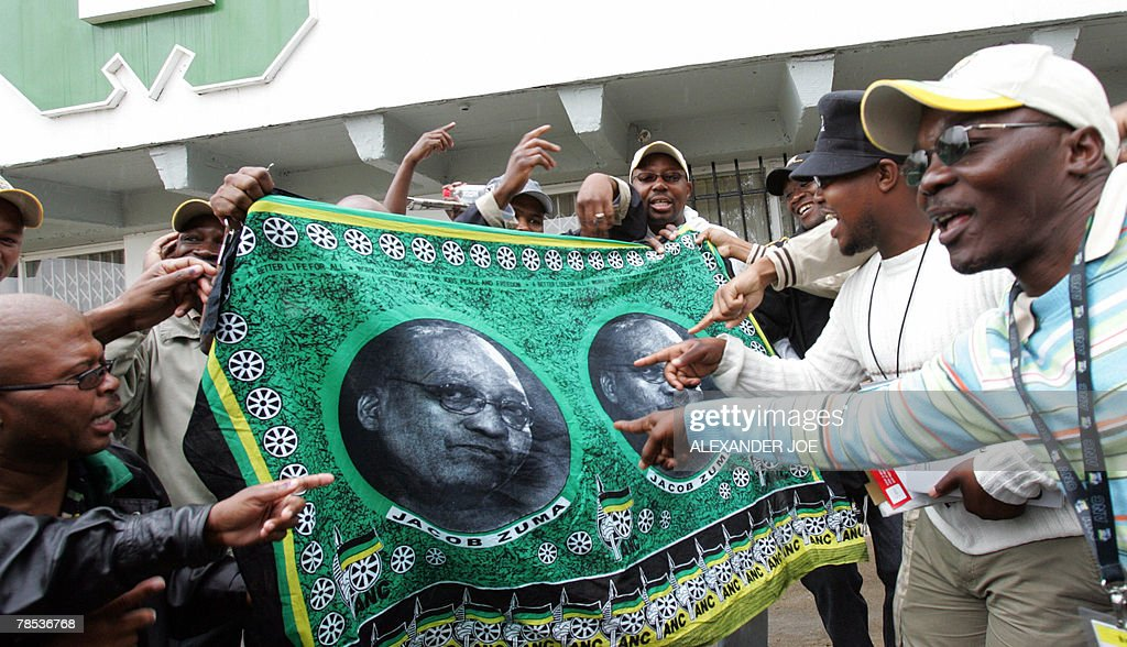 Supporters of ANC Deputy President Jacob : News Photo