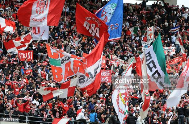 Supporters of AS Bari during the Serie A match between AS Bari and AS Livorno Calcio at Stadio San Nicola on November 8, 2009 in Bari, Italy.