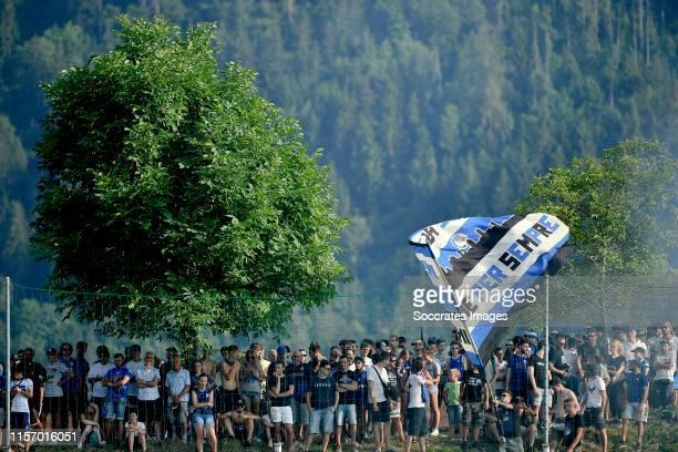 supporters of Atalanta Bergamo during the Club Friendly match between Atalanta Bergamo v Ac Renate at the Stadio Atleti Azzurri d Italia on July 21...