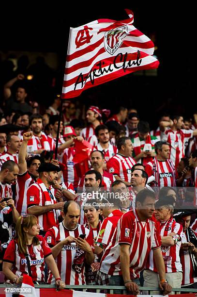 Supporters of Athletic Club are seen before the Copa del Rey Final between Athletic Club and FC Barcelona at Camp Nou on May 30 2015 in Barcelona...