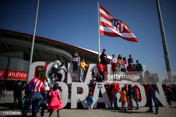 supporters of Atletico de Madrid during the match between Atletico Madrid Women v FC Barcelona Women at the Estadio Wanda Metropolitano on March 17...