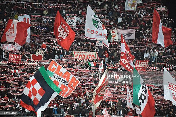 Supporters of Bari during the Serie A match between Bari and Palermo at Stadio San Nicola on January 30 2010 in Bari Italy