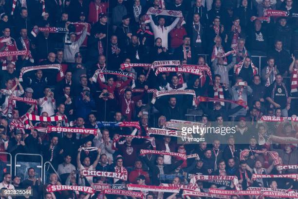 supporters of Bayern Munich during the UEFA Champions League round of 16 match between Besiktas AS and Bayern Munchen at the Vodafone Arena on March...