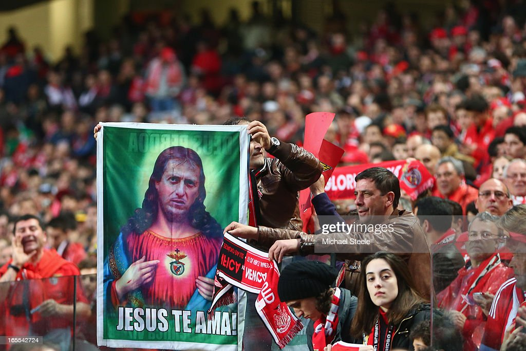 Supporters of Benfica during the UEFA Europa League Quarter- Final First Leg match between Benfica and Newcastle United at the Estadio da Luz on April 4, 2013 in Lisbon, Portugal.