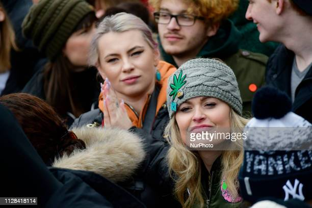 Supporters of Bernie Sanders at the 2020 campaign kicksoff at Brooklyn Collage in Brooklyn NY on March 2 2019 The independent US Senator of Vermont...