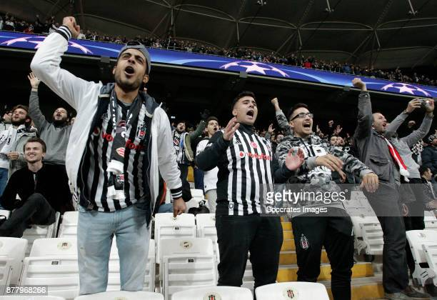 supporters of Besiktas during the UEFA Champions League match between Besiktas v FC Porto at the Vodafone Park on November 21 2017 in Istanbul Turkey