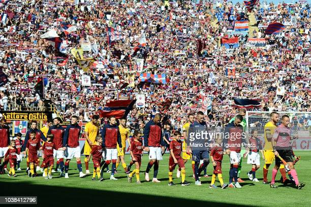 supporters of Bologna FC attend the serie A match between Bologna FC and AS Roma at Stadio Renato Dall'Ara on September 23 2018 in Bologna Italy