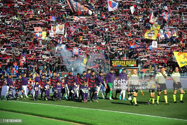Supporters of Bologna FC attend the Serie A match between Bologna FC and ACF Fiorentina at Stadio Renato Dall'Ara on January 06, 2020 in Bologna,...