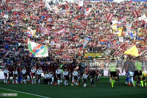 supporters of Bologna FC attend the Serie A match between Bologna FC and Udinese Calcio at Stadio Renato Dall'Ara on February 22 2020 in Bologna Italy
