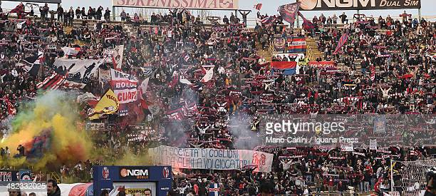 supporters of Bologna FC attend the Serie A match between Bologna FC and Atalanta BC at Stadio Renato Dall'Ara on March 29 2014 in Bologna Italy