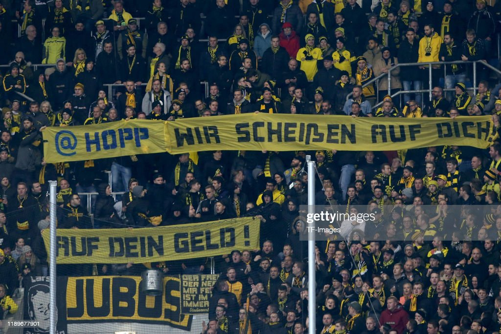 Supporters Of Borussia Dortmund With Banner Prior To The Bundesliga News Photo Getty Images